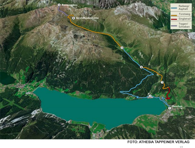Nr. 007 Bike & Hike Piz Rasass im Vallungtal