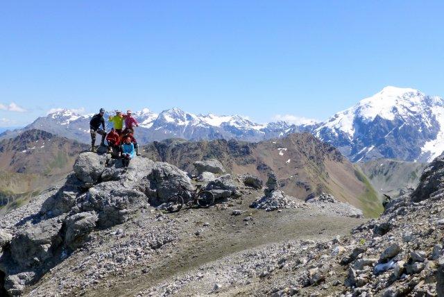 Gipfelbiketour zum Piz Umbrail