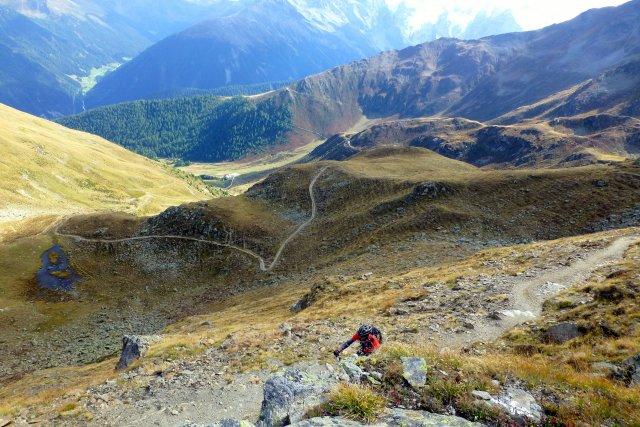 Gipfelbiketour Piz Chavalatsch